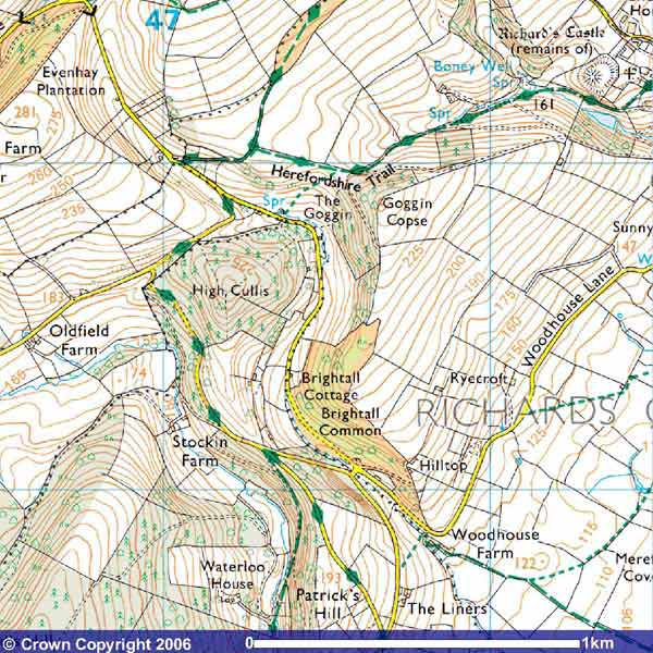 Map of The Goggin hill